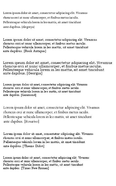 Paragraph Fonts